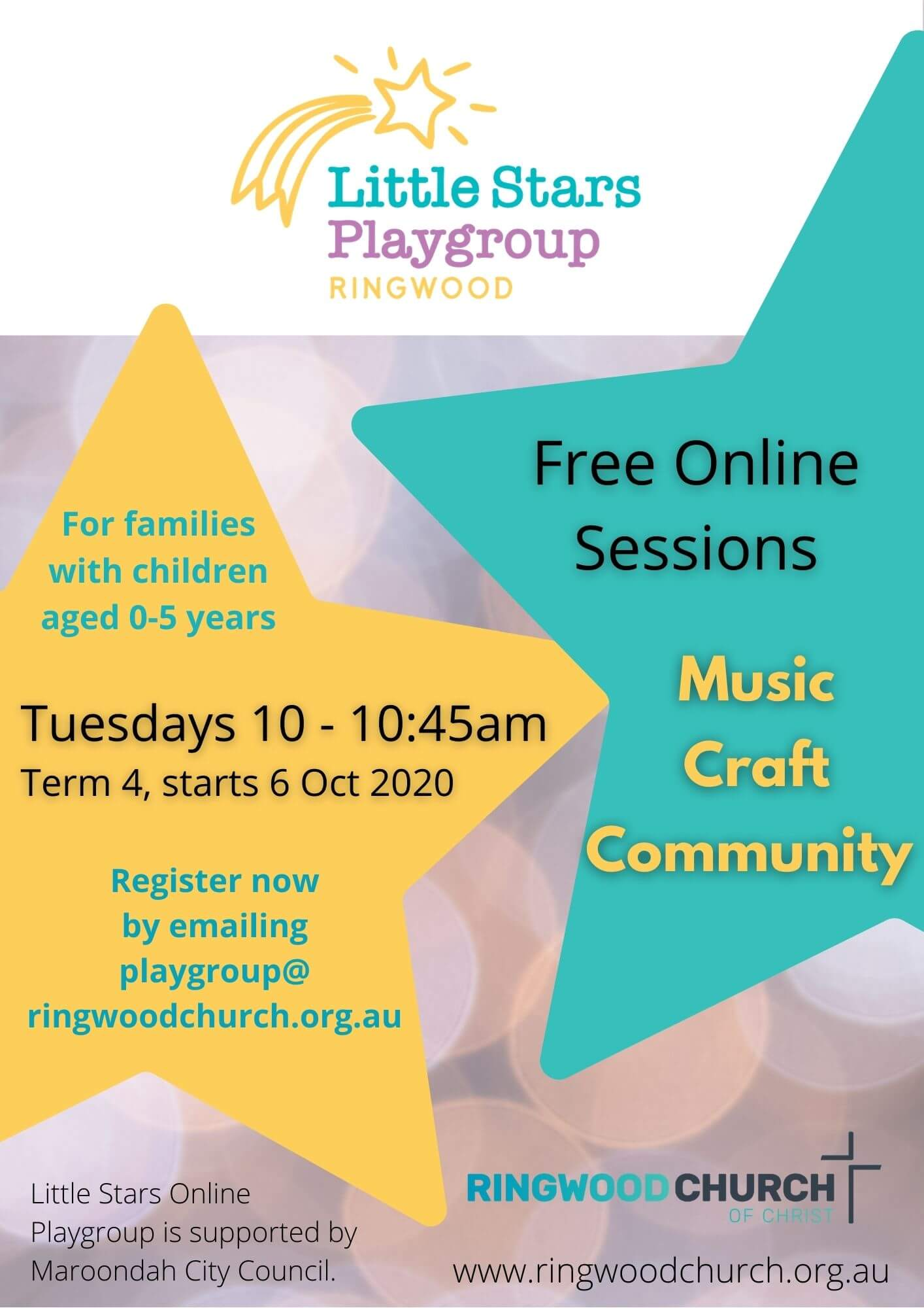Little Stars Playgroup flyer