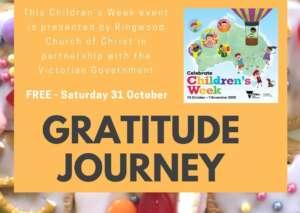 Gratitude Journey and children's week logo