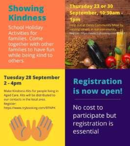 Showing Kindness flyer updates